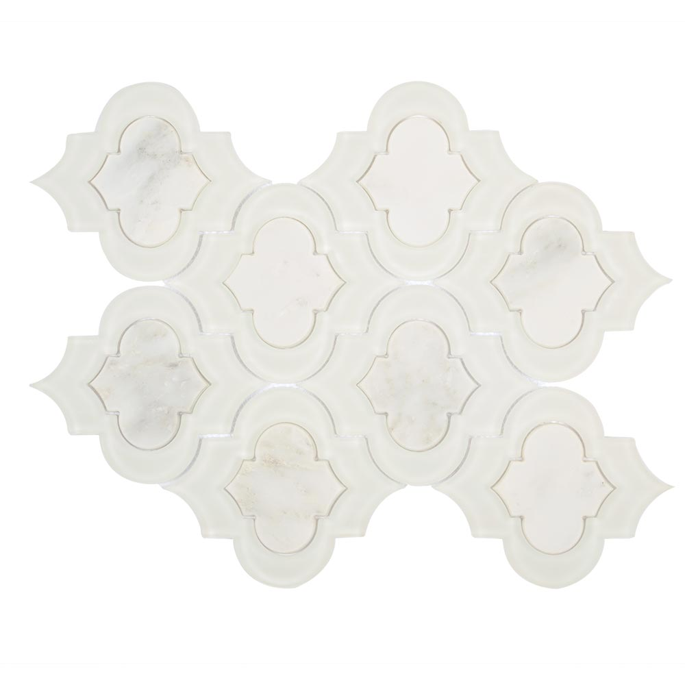 Carrara White Marble Arabesque Tile