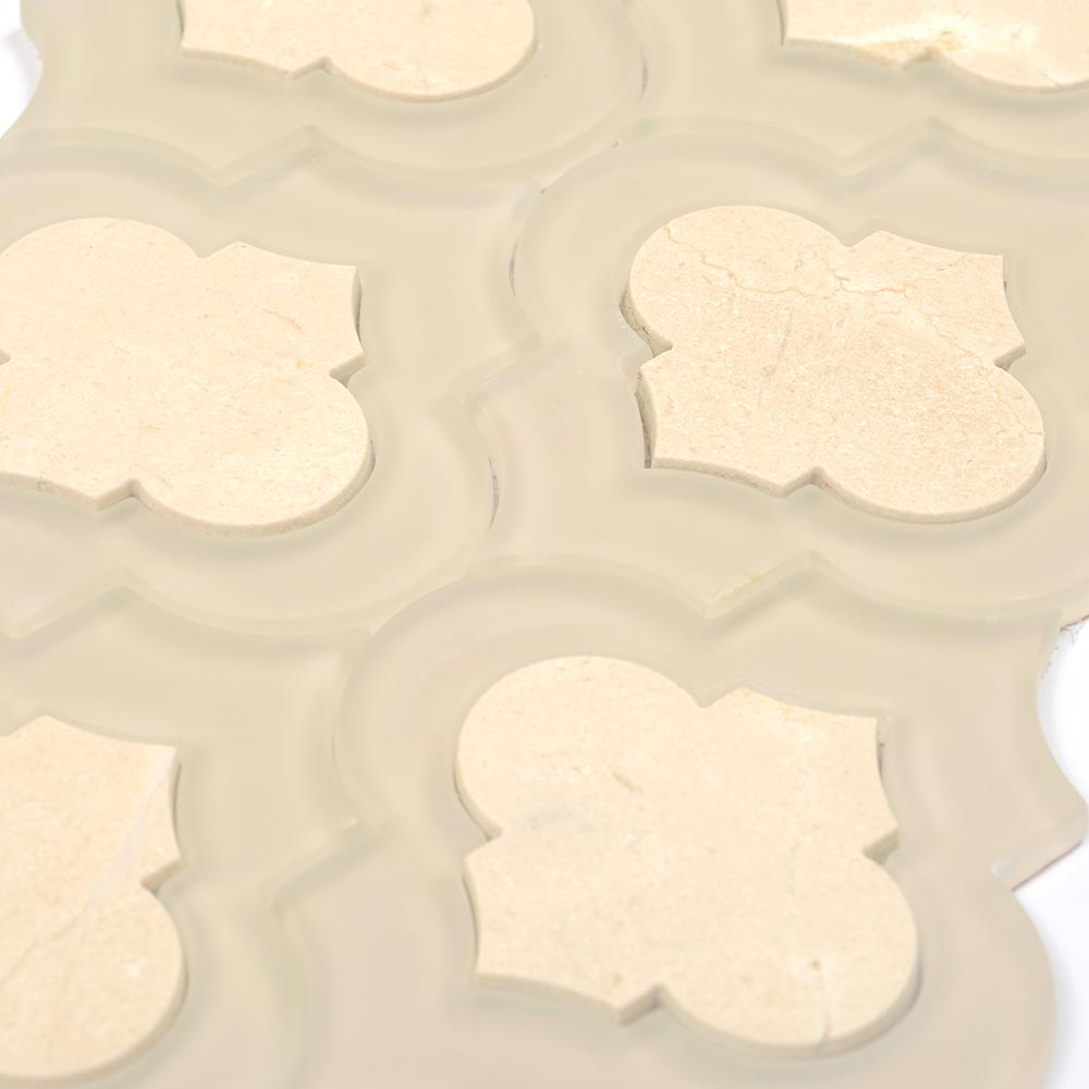 Crema Marfil Marble Arabesque Tile