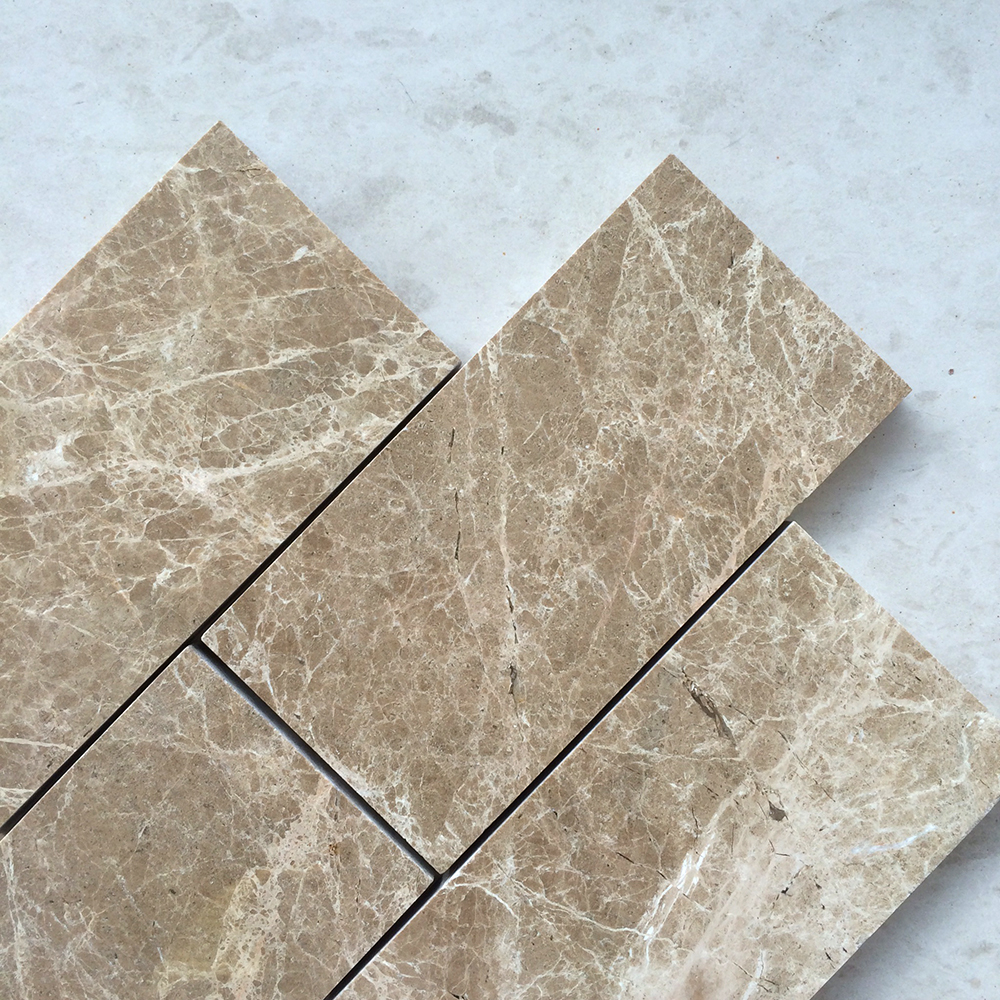 Light Emperador Marble 3x6 Polished Subway Tile