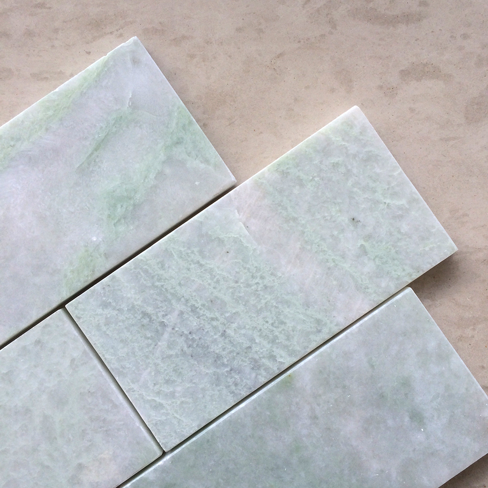 Ming Green Marble 3x6 Polished Subway Tile