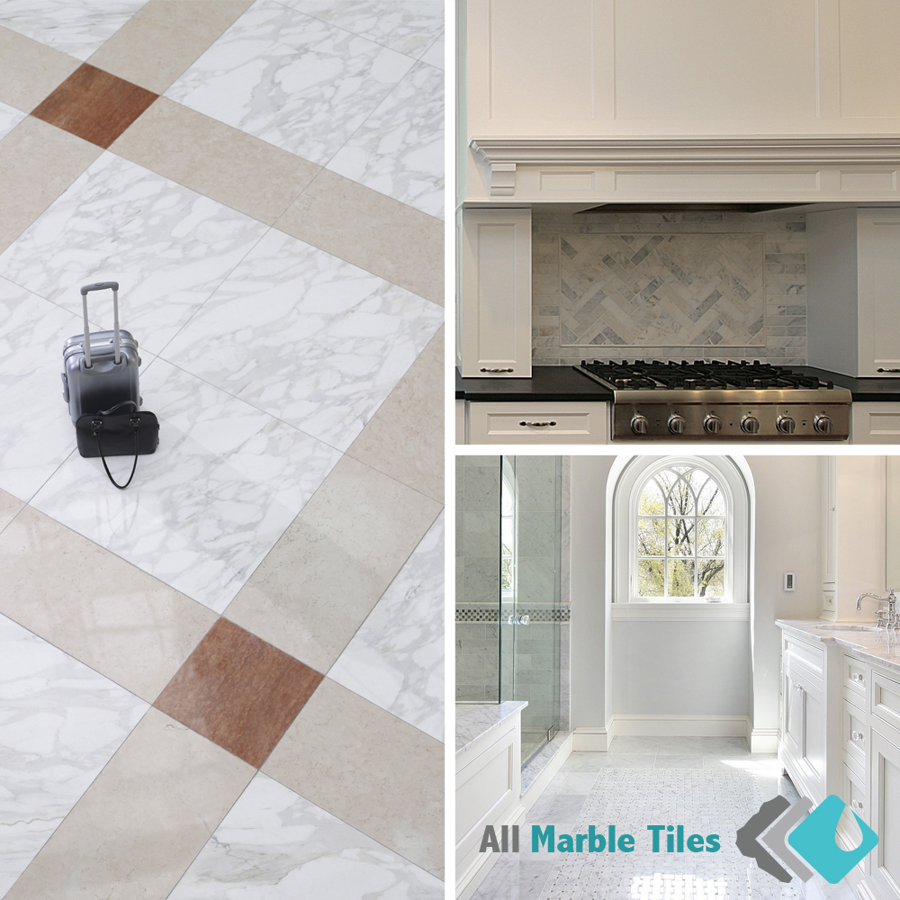 calacatta gold marble tile and mosaic