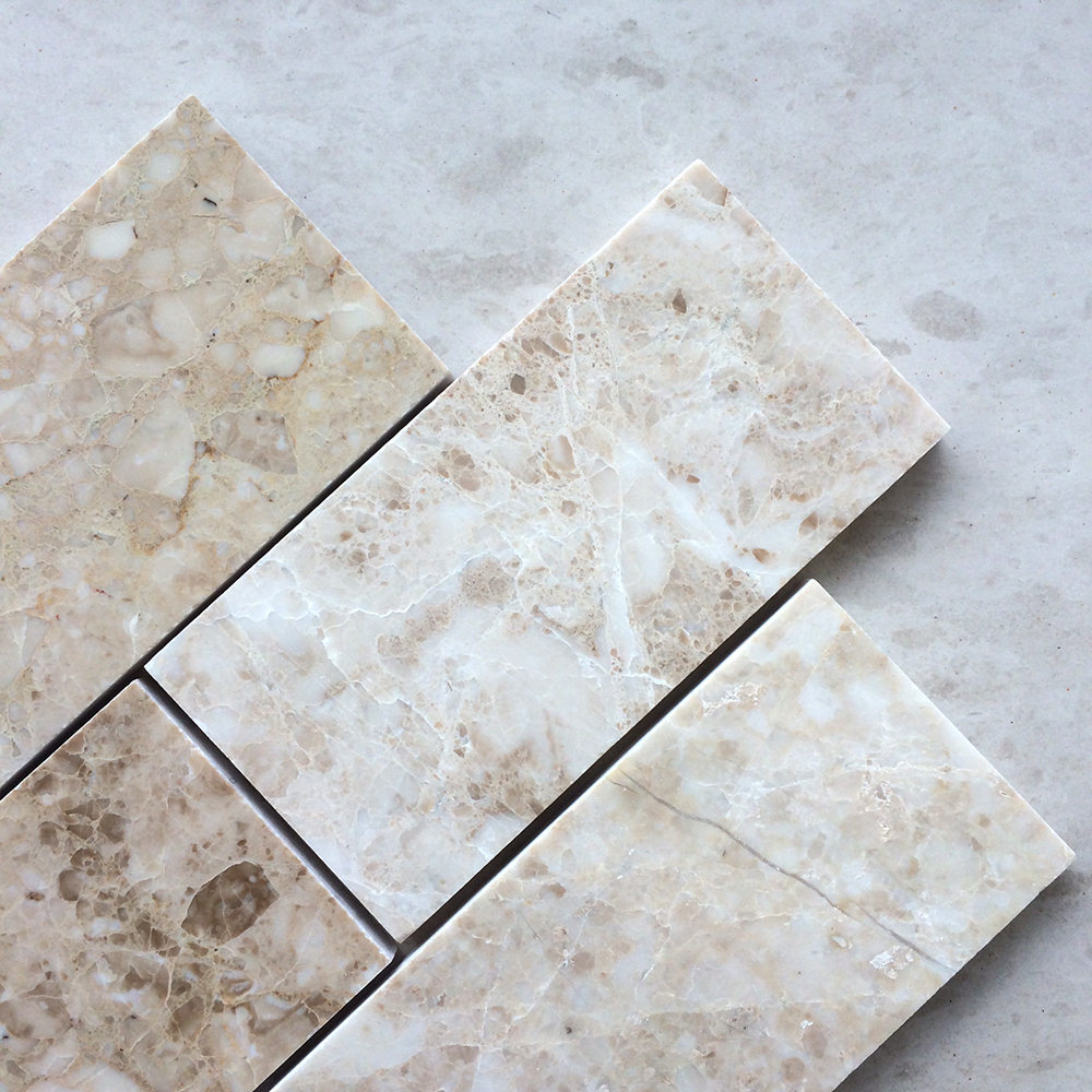 Cappuccino 3 x 6 Polished Marble Subway Tile