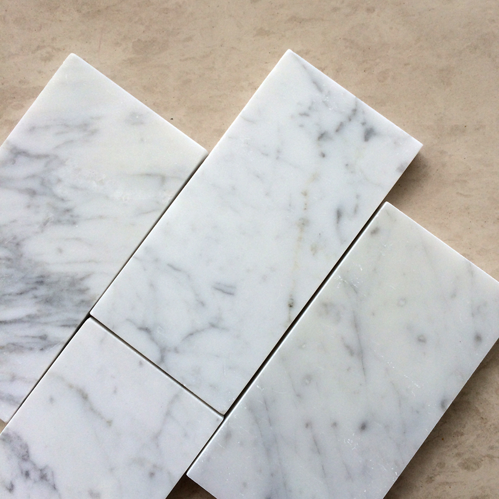 Bianco Carrara 3x6 Polished Marble Tile