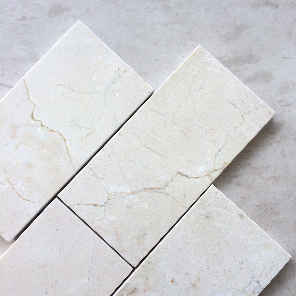 Crema Marfil 3x6 Polished Marble Tile