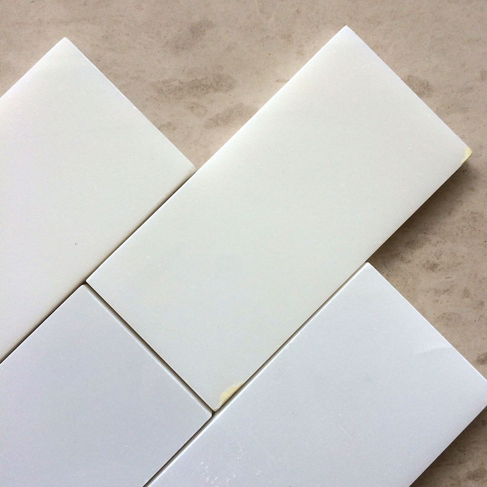 Thassos White Marble 3x6 Subway Tile