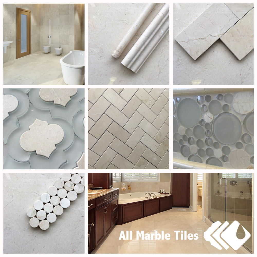 Crema marfil marble tile and mosaic